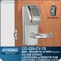 Schlage Magnetic Stripe Swipe and Push Button Lock Manchester Ct
